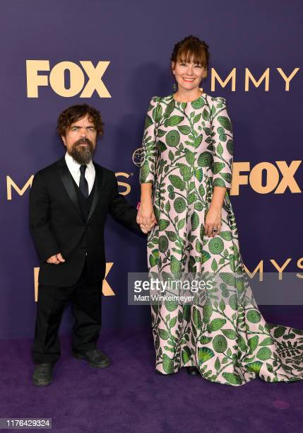 Peter Dinklage and Erica Schmidt attend the 71st Emmy Awards at Microsoft Theater on September 22 2019 in Los Angeles California