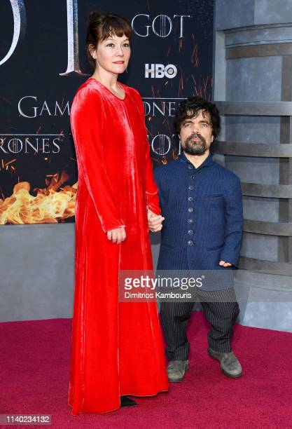 Peter Dinklage and Erica Schmidt attend the Game Of Thrones Season 8 Premiere on April 03 2019 in New York City