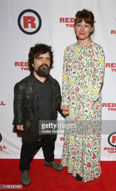 Peter Dinklage and Erica Schmidt attend the Opening Night Party for Red Bull Theater's AllFemale Macbeth at Houston Hall on May 19 2019 in New York...