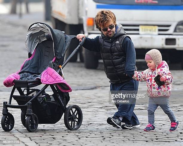 Peter Dinklage and Zelig Dinklage are seen in the Meat Packing District on January 15 2014 in New York City