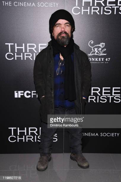 Peter Dinklage attends a screening of Three Christs hosted by IFC and the Cinema Society at Regal Essex Crossing on January 09 2020 in New York City