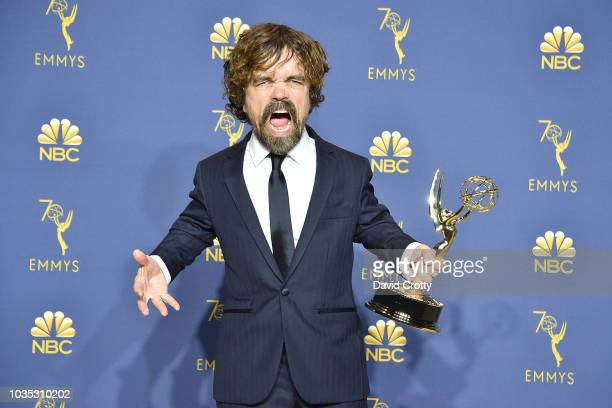 Peter Dinklage attends the 70th Emmy Awards - Press Room at Microsoft Theater on September 17, 2018 in Los Angeles, California.
