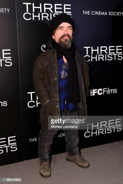 Peter Dinklage attends the IFC And The Cinema Society Host A Screening Of Three Christs at Regal Essex Crossing on January 09 2020 in New York City