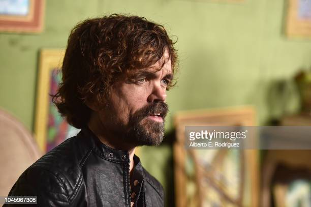 """Peter Dinklage attends the premiere of HBO Films' """"My Dinner With Herve"""" at Paramount Studios on October 4, 2018 in Hollywood, California."""
