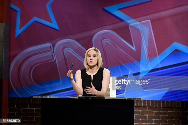 LIVE Peter Dinklage Episode 1699 Pictured Kate McKinnon as Kate Bolduan during the At This Hour Cold Open sketch on April 2 2016