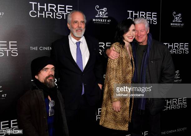 Peter Dinklage Jon Avnet Julianna Margulies and Richard Gere attend the IFC And The Cinema Society Host A Screening Of Three Christs at Regal Essex...