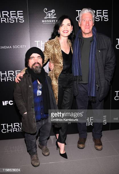 Peter Dinklage Julianna Margulies and Richard Gere attend a screening of Three Christs hosted by IFC and the Cinema Society at Regal Essex Crossing...