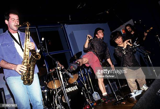 Peter Dinklage performs singing with Whizzy at Columbia University, New York, New York, November 13, 1993.