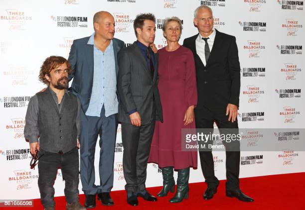 Peter Dinklage Woody Harrelson Sam Rockwell Frances McDormand and Director Martin McDonagh attend the UK Premiere of 'Three Billboards Outside Ebbing...