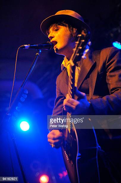 Peter Doherty performs on stage at the Essigfabrik on November 30 2009 in Cologne Germany