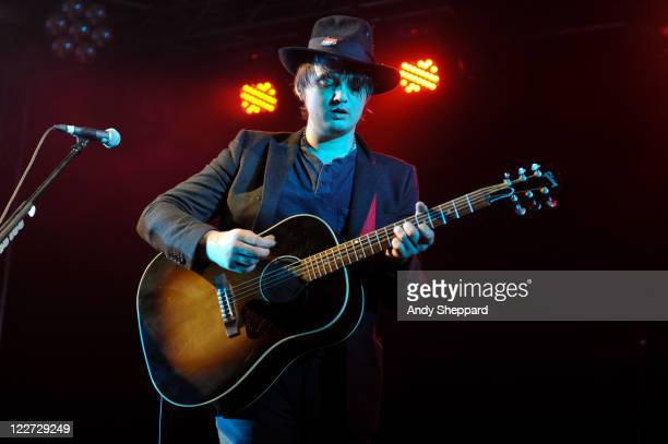 Peter Doherty performs on stage during Day 3 of Reading Festival 2011 at Richfield Avenue on August 28 2011 in Reading United Kingdom