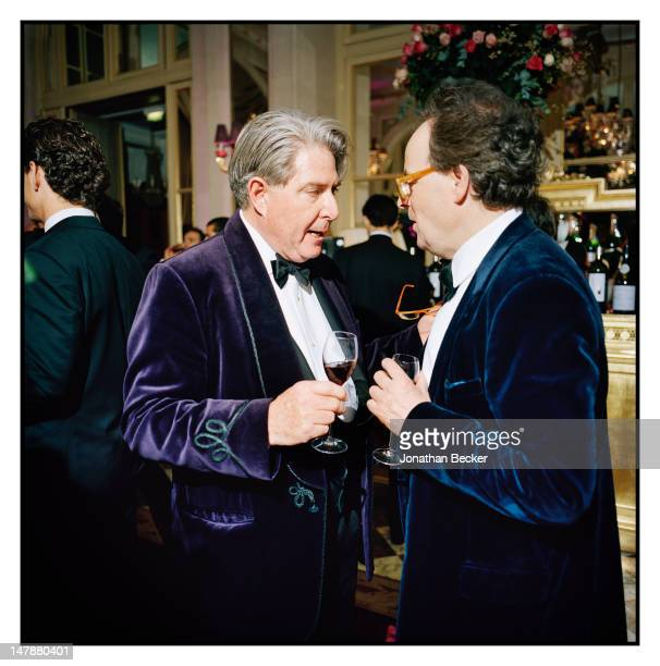 Peter Donnelly and Benjamin Fraser are photographed at the Crillon Debutante Ball for Vanity Fair Magazine on November 26 2011 in Paris France...