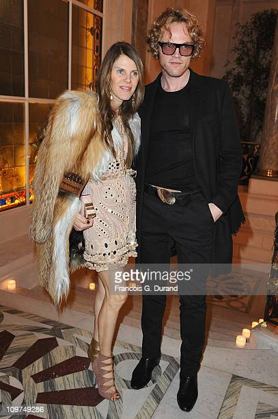 Peter Dundas and Anna Dello Russo attend the Joyce Hong Kong 40th Anniversary Intimate Dinner Hosted By Keith Of Joyce Angelica Cheung at ShangriLa...