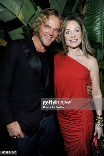 Peter Dundas and Becca Cason Thrash attend Peter Dundas of EMILIO PUCCI hosts a dinner at The Webster at The Webster on December 3 2009 in Miami...