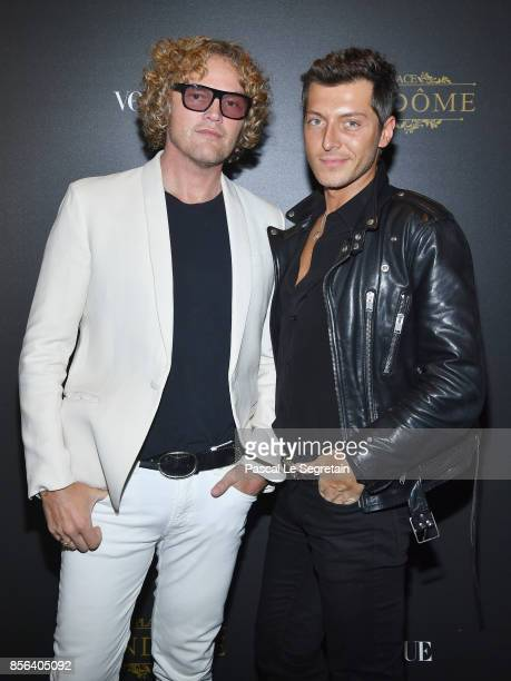 Peter Dundas and Evangelo Bousis attend the Irving Penn Exhibition Private Viewing Hosted by Vogue as part of the Paris Fashion Week Womenswear...