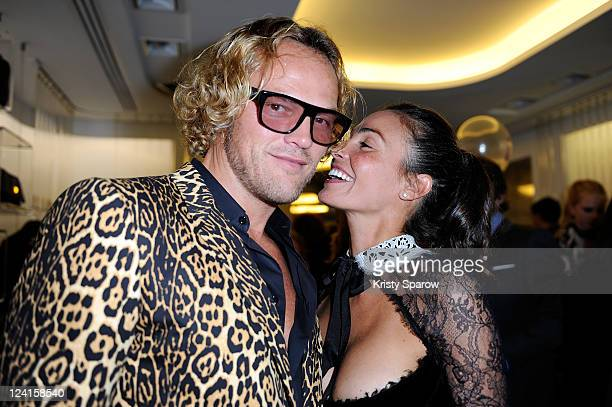 Peter Dundas and Ines Sastre attend the Vogue Fashion Celebration Night 2011 at the Pucci boutique on Avenue Montaigne on September 8 2011 in Paris...
