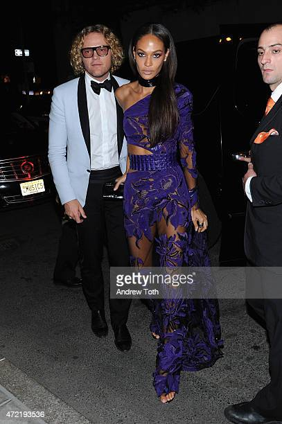Peter Dundas and Joan Smalls attend Michael Kors and iTunes After Party at The Mark Hotel on May 4 2015 in New York City