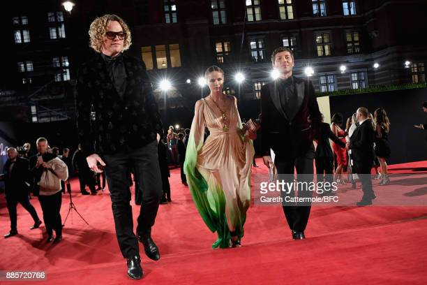 Peter Dundas Natasha Poly and Evangelo Bousis attend The Fashion Awards 2017 in partnership with Swarovski at Royal Albert Hall on December 4 2017 in...