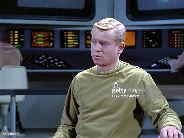 Peter Duryea as Lieutenant Jos Tyler on the bridge of the USS Enterprise in the STAR TREK The Original Series episode The Cage This is the pilot...
