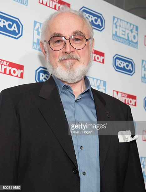Peter Egan arrives with his pet dog for Daily Mirror and RSPCA Animal Hero Awards at Grosvenor House on September 7 2016 in London England
