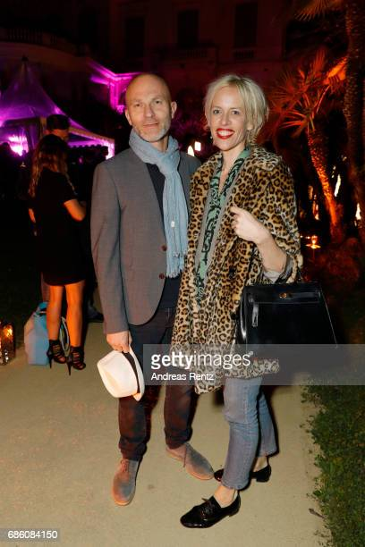 Peter Eiff Tobis Film and Katja Hofmann attends the German Reception during the 70th annual Cannes Film Festival at Villa Rothschild on May 20 2017...