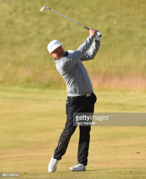 Gareth Wright of Wales plays his first shot on the 10th tee during Day Two of the SSE Scottish Hydro Challenge hosted by Macdonald Hotels and Resorts...