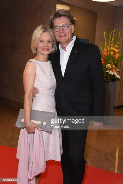 Peter Escher and his wife Ulrike Escher attend the GRK Golf Charity Masters evening gala on August 19 2017 in Leipzig Germany