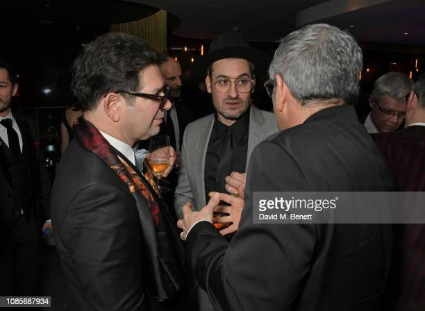 Peter Ettedgui Ian Bonhote and Jason Solomon attend The 39th London Film Critics' Circle Awards at The May Fair Hotel on January 20 2019 in London...