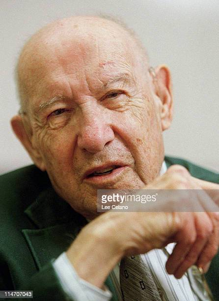Peter F Drucker during Peter F Drucker a Pioneer in Social and Management Theory Dead at 95 at Claremont Graduate University in Claremont California...