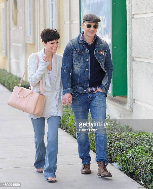 Peter Facinelli and Jaimie Alexander are seen on March 22 2014 in Los Angeles California