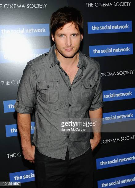 """Peter Facinelli attends Columbia Pictures' and The Cinema Society's screening of """"The Social Network"""" at the School of Visual Arts Theater on..."""