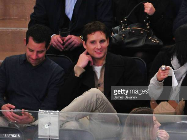 Peter Facinelli attends the Pittsburgh Penguins vs the New York Rangers game at Madison Square Garden on November 29 2011 in New York City