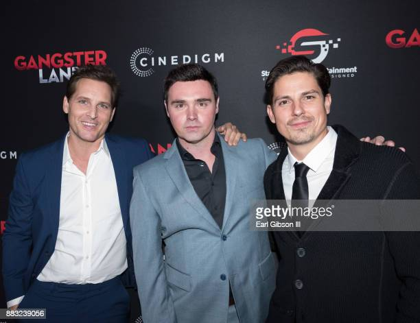 Peter Facinelli Timothy Woodward Jr and Sean Faris attend the Premiere Of Cinedigm's 'Gangster Land' at the Egyptian Theatre on November 29 2017 in...