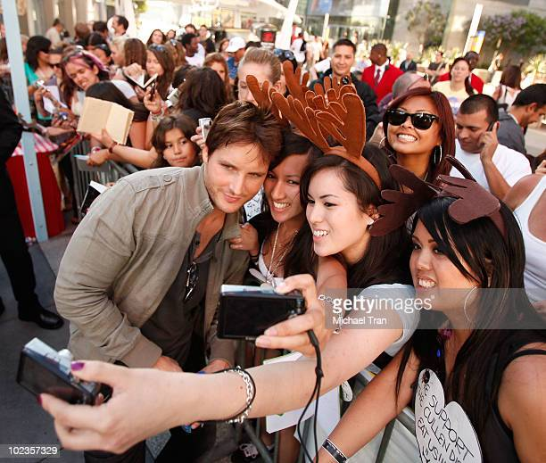 Peter Facinelli with his fans at the Eclipse fan frenzy held at Nokia Plaza LA LIVE on June 23 2010 in Los Angeles California