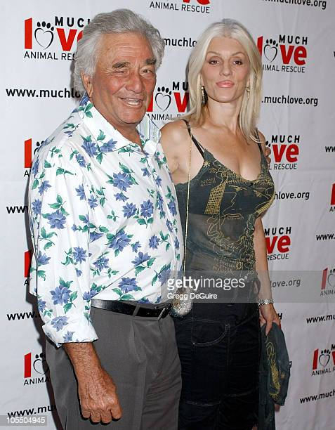 Peter Falk and Shera Danese during 4th Annual Much Love Animal Rescue Celebrity Comedy Benefit Arrivals at The Laugh Factory in Hollywood California...
