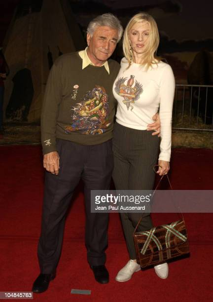 Peter Falk and Shera Danese during Dreamkeeper ABC AllStar Winter Party at Quixote Studios in Los Angeles California United States