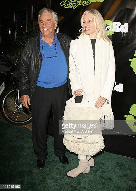 Peter Falk and wife Shera Danese during HGTV's Living with Ed Special Screening Arrivals at Laemmel Sunset 5 Cinemas in West Hollywood California...