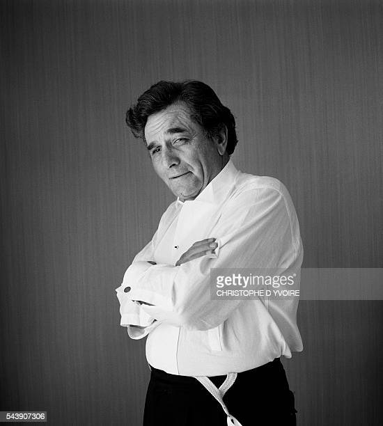 Peter Falk at the Cannes Film Festival for the screening of the film Wings of Desire directed by Wim Wenders