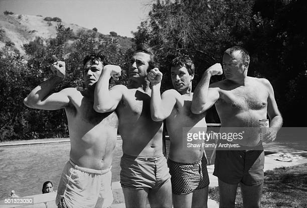 Peter Falk Ben Gazzara John Cassavetes and David Rowlands in 1969 during the filming of Husbands in Los Angeles California