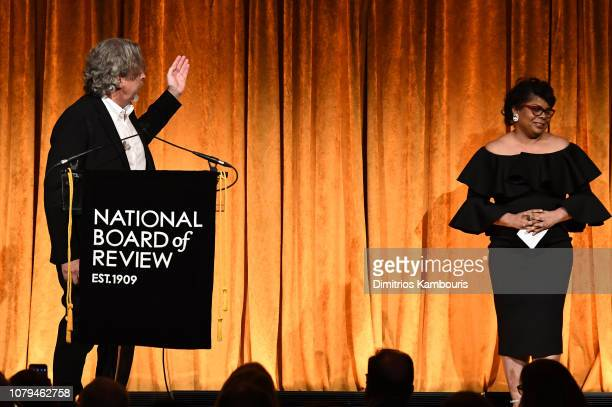 Peter Farrelly accepts the Best Film award for Green Book from April Ryan during The National Board of Review Annual Awards Gala at Cipriani 42nd...