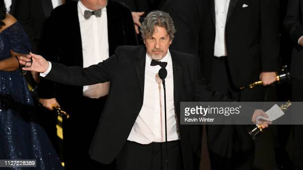 Peter Farrelly accepts the Best Picture award for 'Green Book' onstage during the 91st Annual Academy Awards at Dolby Theatre on February 24 2019 in...