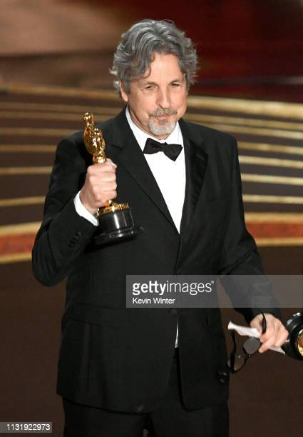 Peter Farrelly accepts the Original Screenplay award for 'Green Book' onstage during the 91st Annual Academy Awards at Dolby Theatre on February 24...