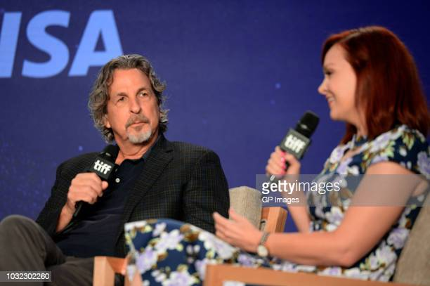 Peter Farrelly and Alicia Malone attend the 'Green Book' press conference during 2018 Toronto International Film Festival at TIFF Bell Lightbox on...