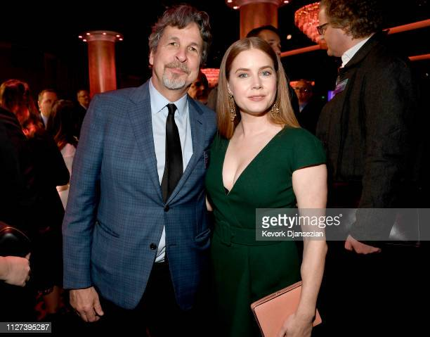 Peter Farrelly and Amy Adams attend the 91st Oscars Nominees Luncheon at The Beverly Hilton Hotel on February 04 2019 in Beverly Hills California
