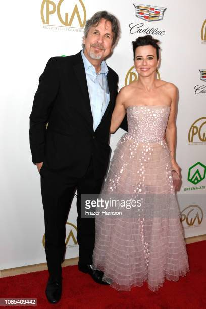 Peter Farrelly and Linda Cardellini attend the 30th annual Producers Guild Awards at The Beverly Hilton Hotel on January 19 2019 in Beverly Hills...