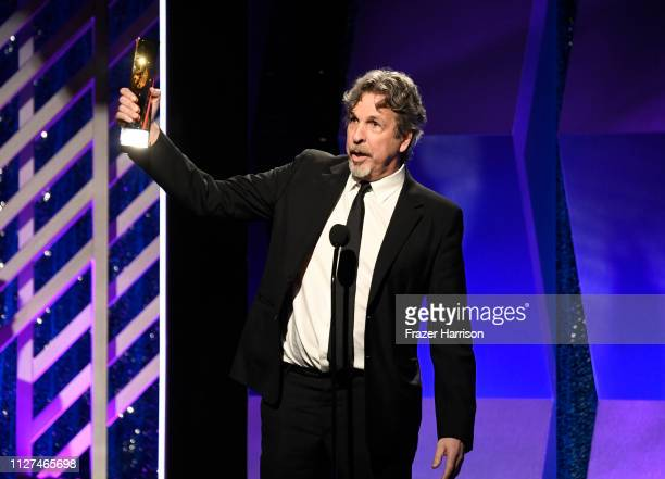 Peter Farrelly speaks onstage at the 18th Annual AARP The Magazine's Movies For Grownups Awards at the Beverly Wilshire Four Seasons Hotel on...