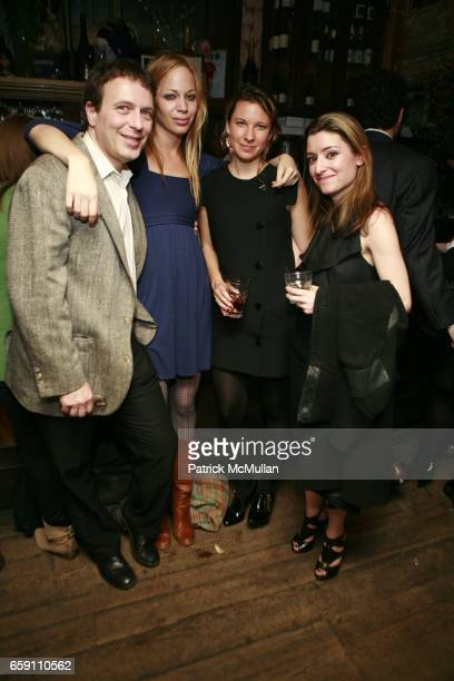 Peter Feld Meghan McGinnis Lucy McIntyre and Elizabeth Spiers attend THE BIBLE AT THE BOX With Jonathan Goldstein and Ira Glass at The Box on April 7...