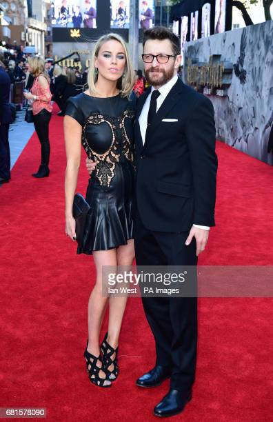 Peter Ferdinando and Alexandra Weaver arriving for the King Arthur European Premiere held at the Odeon Leicester Square London