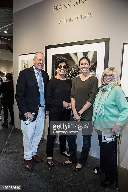 Peter Fetterman Tina Sinatra Amanda Erlinger and Nancy Sinatra attend the Frank Sinatra and Audrey Hepburn A Life In Pictures opening reception at...