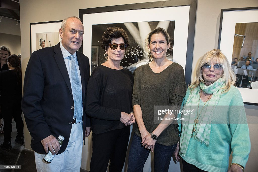 Peter Fetterman, Tina Sinatra, Amanda Erlinger and Nancy Sinatra attend the 'Frank Sinatra and Audrey Hepburn: A Life In Pictures' opening reception at Peter Fetterman Gallery at Bergamot Station on November 1, 2015 in Santa Monica, California.